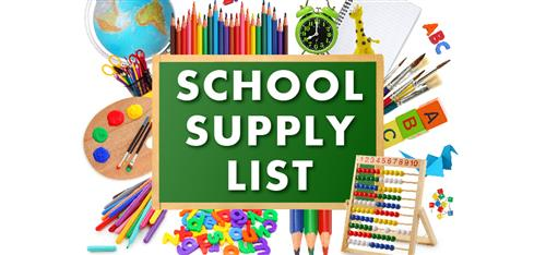 School Supplies around Green Sign