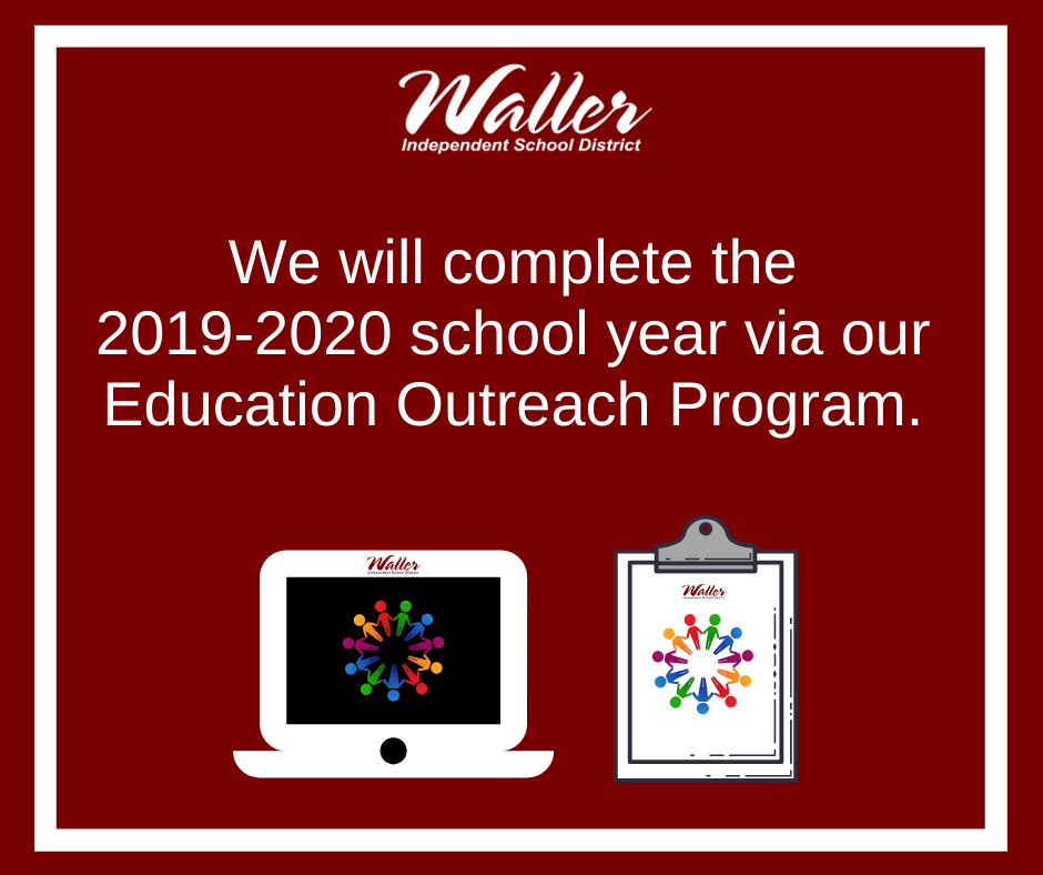 We will complete the 2019-2020 school year via our Education Outreach Program