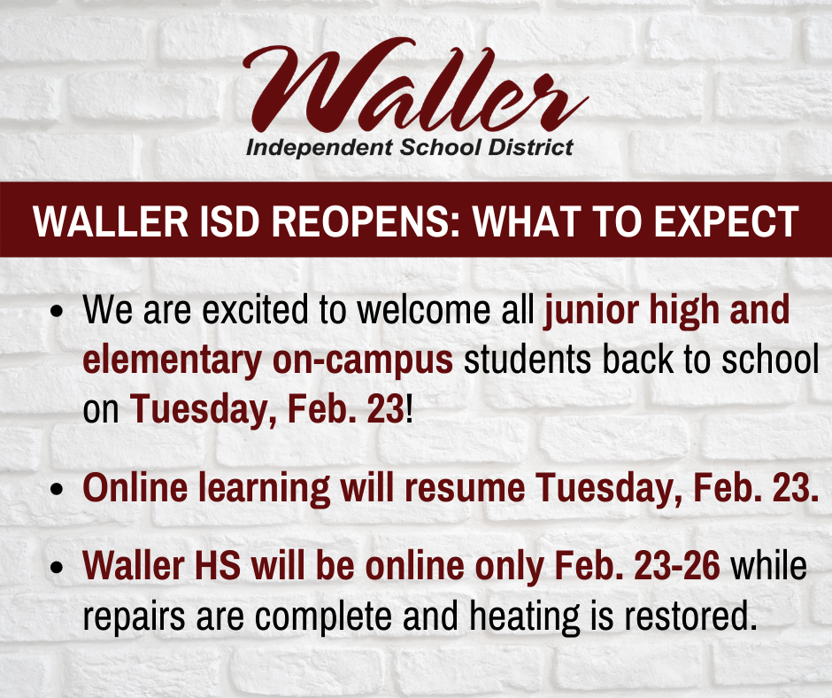 Waller ISD Reopens: What to Expect