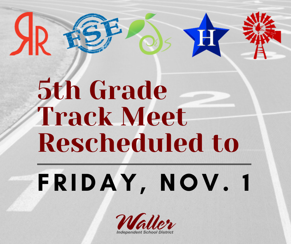 Track Meet Rescheduled