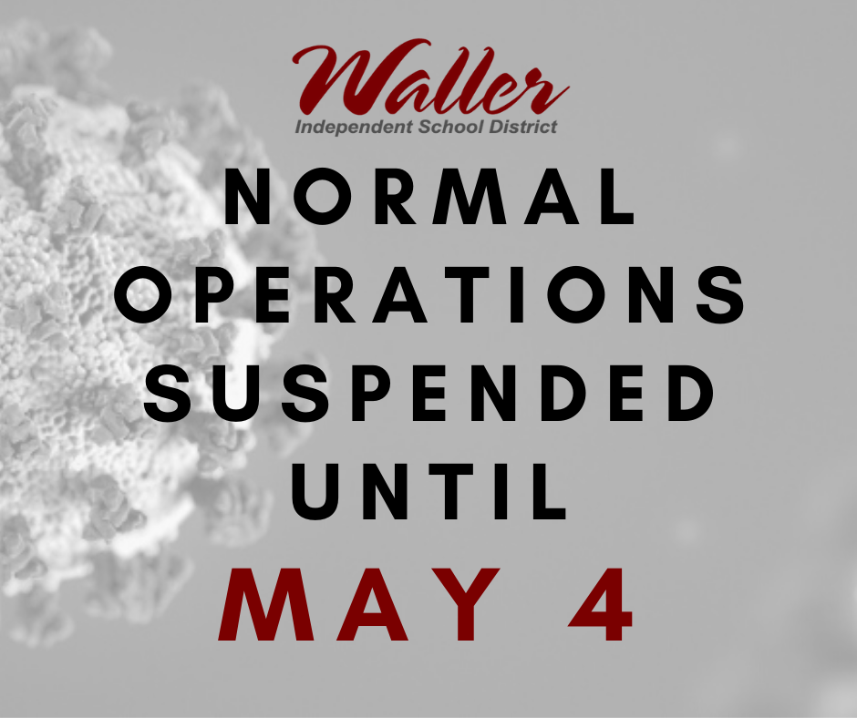Suspension of Normal Operation until May 4