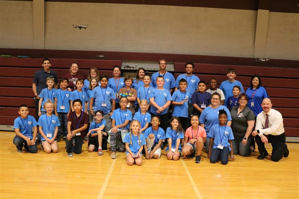 Photo of the Waller ISD Technology Camp morning class