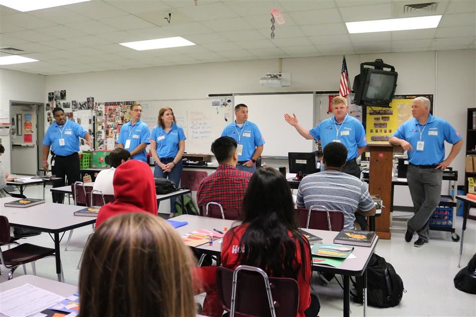 Photo of Daikin employees at Waller High School