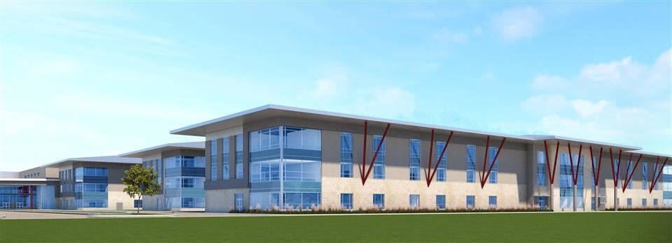 Rendering of new, high-capacity Waller High School