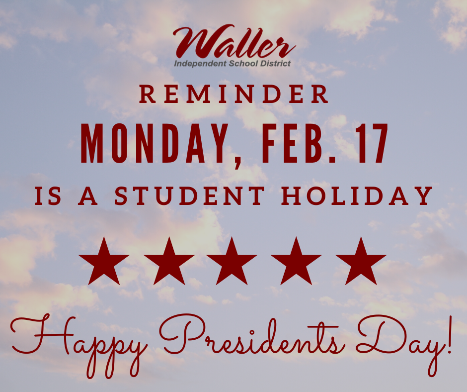 Student Holiday Feb. 17