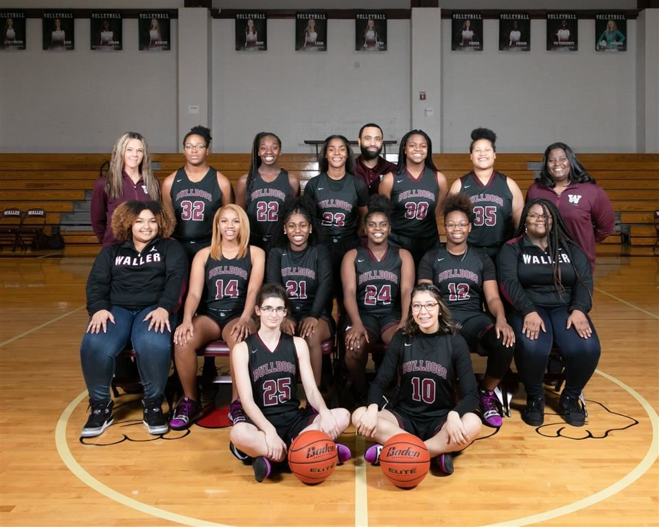 Photo of Waller High School Lady Bulldog Basketball Team