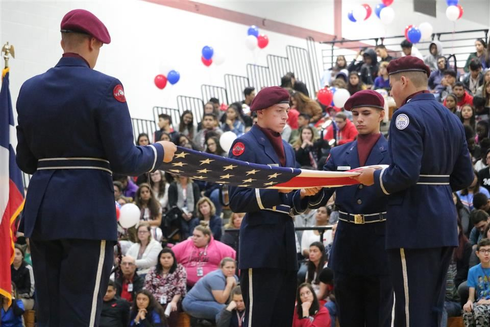 Photo of the Waller High School Veterans Day Program
