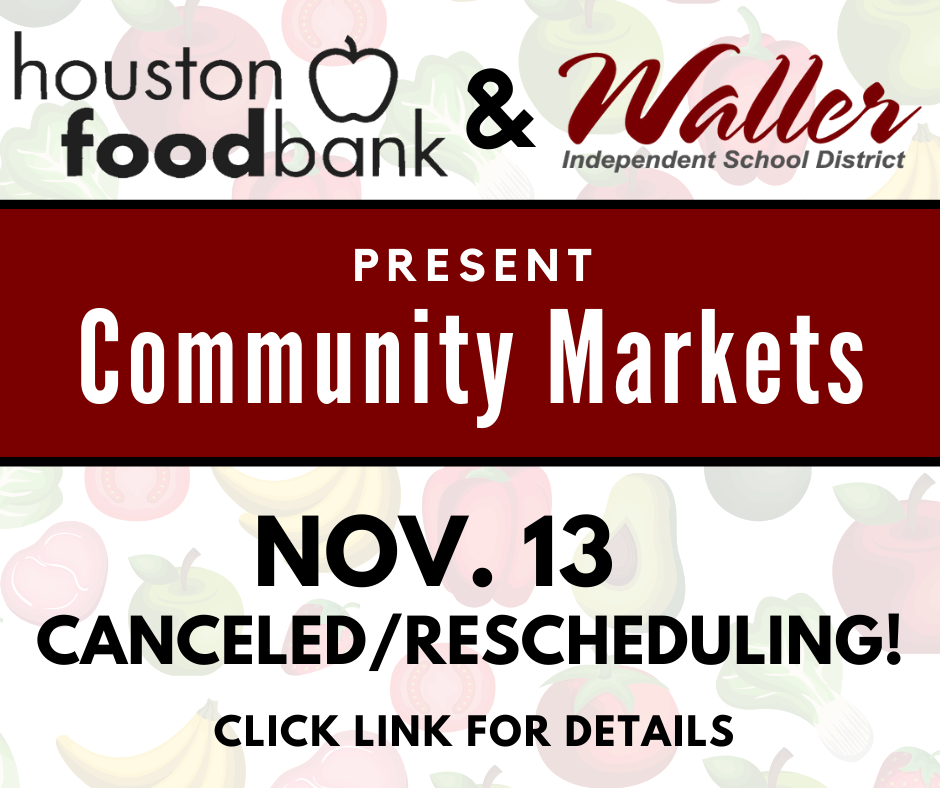 Community Market Rescheduled