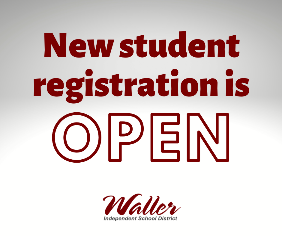New Student Registration is Open