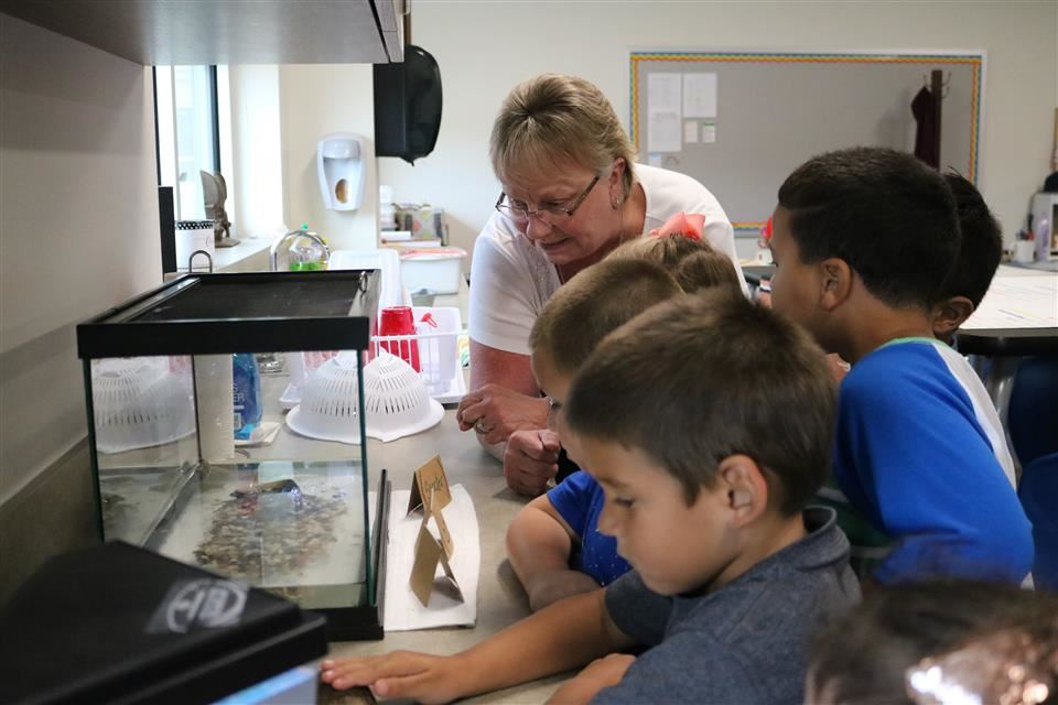 Photo of students in Science Lab