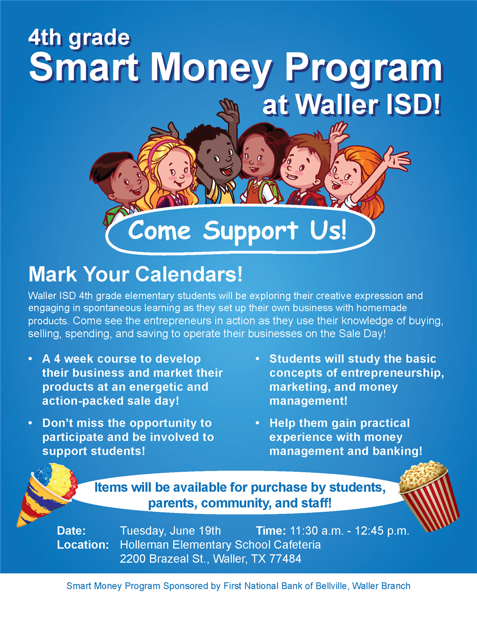 Waller ISD Smart Money Program Banner