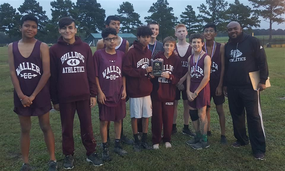Waller Junior High 8th grade Cross-Country Team