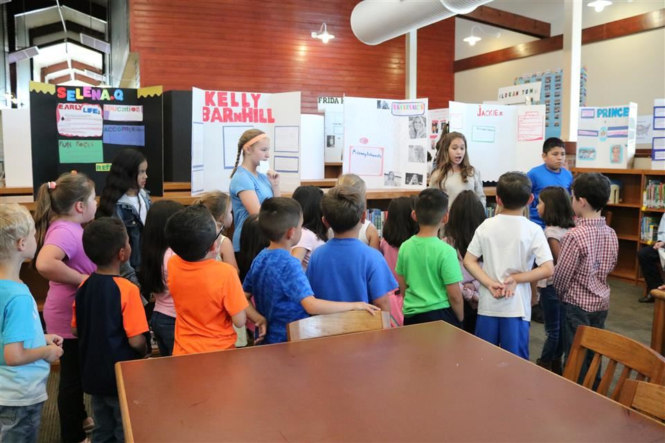 Photo of Turlington Elementary Wax Museum