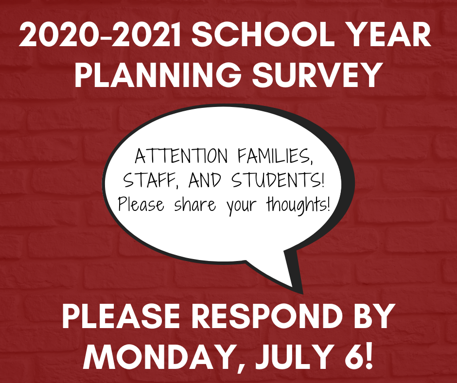 2020-2021 School Year Planning Survey