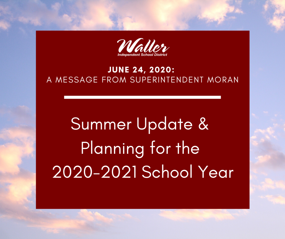 A message from Superintendent Moran
